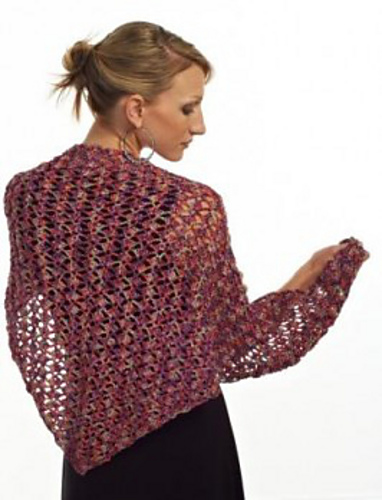 Lace Triangle Shawl ? Free Crochet Pattern Hook and ...