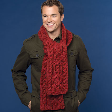Classic Cables Scarf